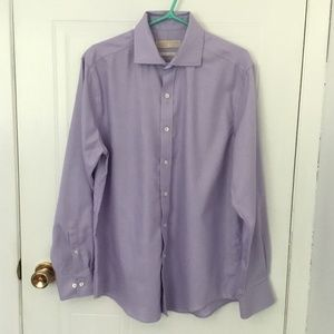 Michael Kors - Button up Dress Shirt - Lilac color